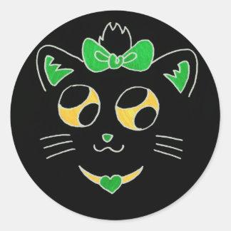 cute halloween kitty sticker