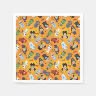 Cute Halloween Monsters Pattern Disposable Serviettes