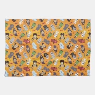 Cute Halloween Monsters Pattern Tea Towel