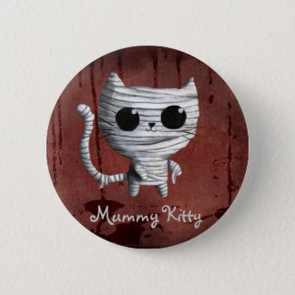Cute Halloween Mummy Cat 6 Cm Round Badge