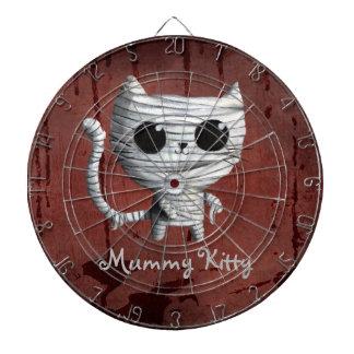 Cute Halloween Mummy Cat Dartboard
