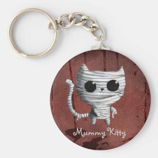 Cute Halloween Mummy Cat Key Ring