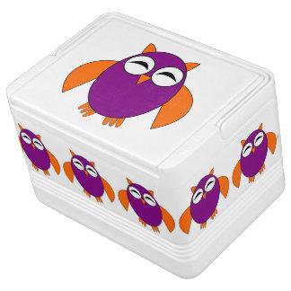 Cute Halloween Owl Can Cooler Igloo Cooler