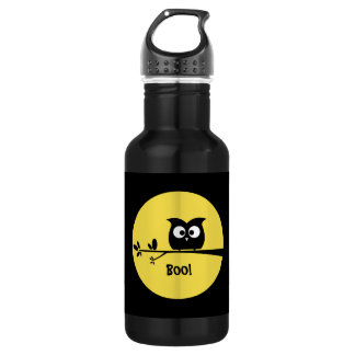 Cute Halloween Owl + customised background colours 532 Ml Water Bottle