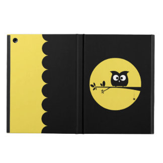 Cute Halloween Owl + customised background colours iPad Air Cover