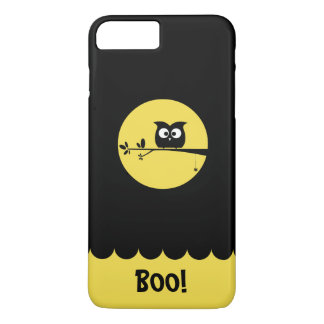 Cute Halloween Owl + customised background colours iPhone 8 Plus/7 Plus Case