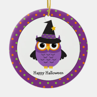 Cute Halloween Owl Personalized Kids Ornament