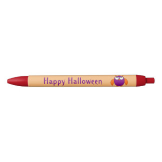 Cute Halloween Owl Personalized Pen