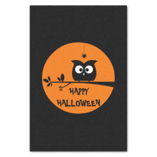 Cute Halloween Owl Tissue Paper
