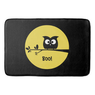 Cute Halloween Owl with customised Moon colours Bath Mat