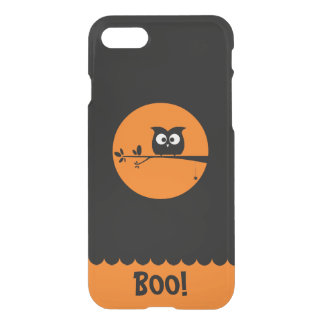 Cute Halloween Owl with customised Moon colours iPhone 8/7 Case