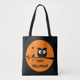 Cute Halloween Owl with customised Moon colours Tote Bag