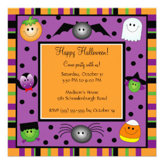 Cute Halloween Party Invitation for Kids