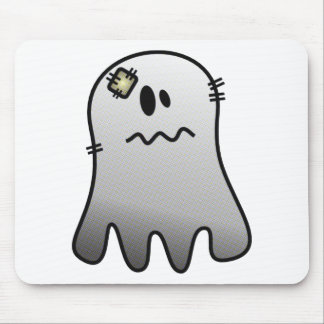 CUTE HALLOWEEN PATCHY GHOST MOUSE PAD