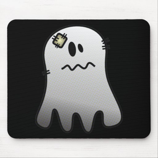 CUTE HALLOWEEN PATCHY GHOST MOUSE PADS