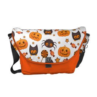 Cute Halloween Pattern Illustration Messenger Bag