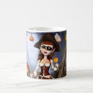 Cute Halloween Pirate Girl Mug