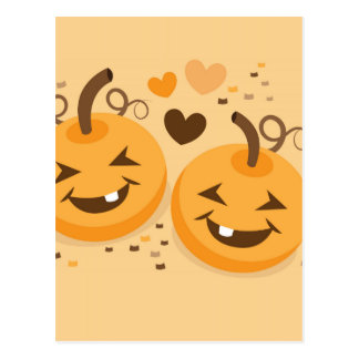 Cute Halloween pumpkin baby faces Postcard