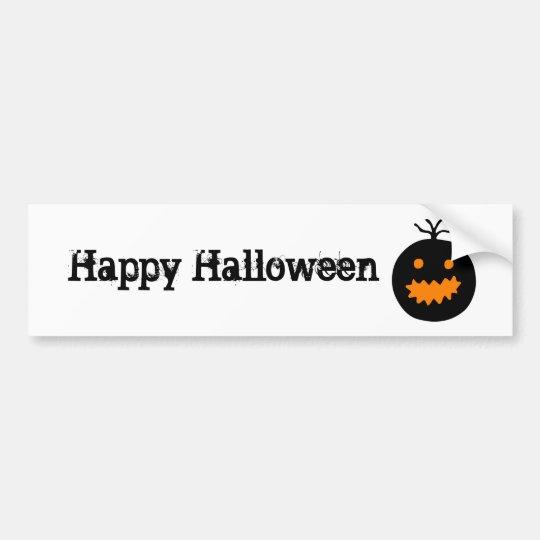 Cute Halloween Pumpkin Bumper Sticker