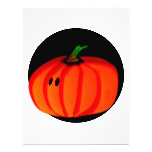 Cute Halloween Pumpkin Flyer Design