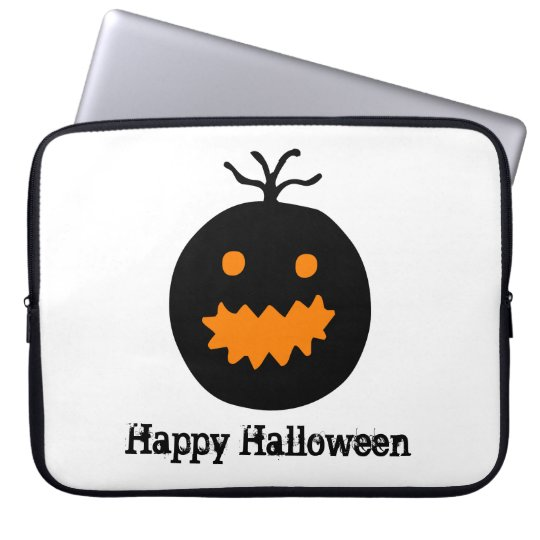 Cute Halloween Pumpkin Laptop Sleeve