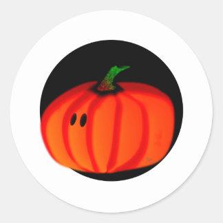 Cute Halloween Pumpkin Round Stickers
