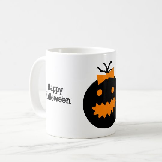Cute Halloween pumpkin with bow Coffee Mug