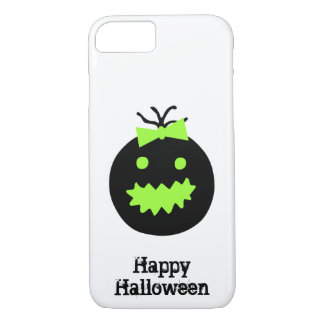 Cute Halloween pumpkin with bow iPhone 8/7 Case