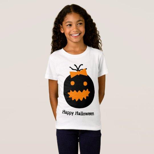 Cute Halloween pumpkin with bow T-Shirt