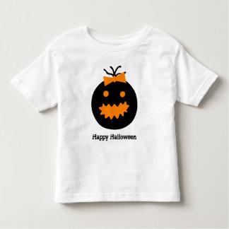 Cute Halloween pumpkin with bow Toddler T-Shirt