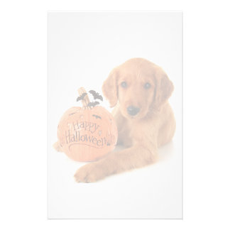 Cute Halloween Puppy With A Pumpkin Stationery
