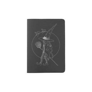 Cute Halloween Witch Passport Holder