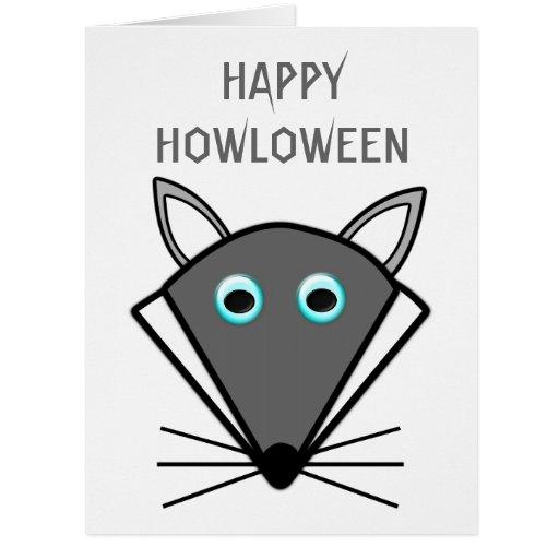 Cute Halloween Wolf Custom Card