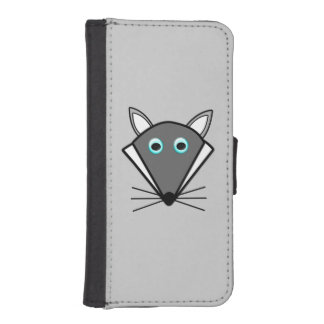 Cute Halloween Wolf iPhone Wallet Case