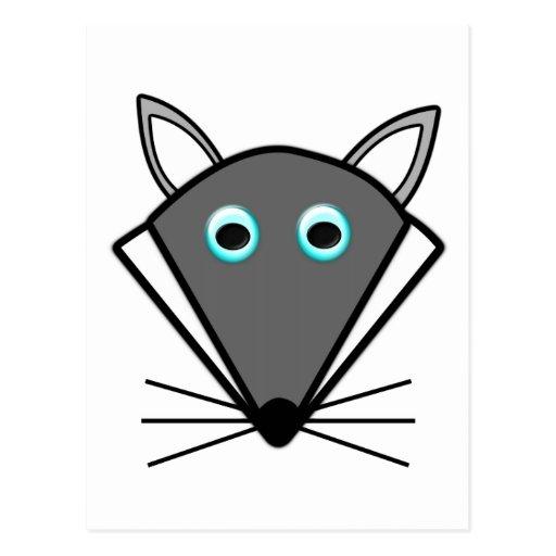 Cute Halloween Wolf Postcard