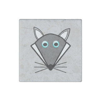 Cute Halloween Wolf Stone Magnet Stone Magnet
