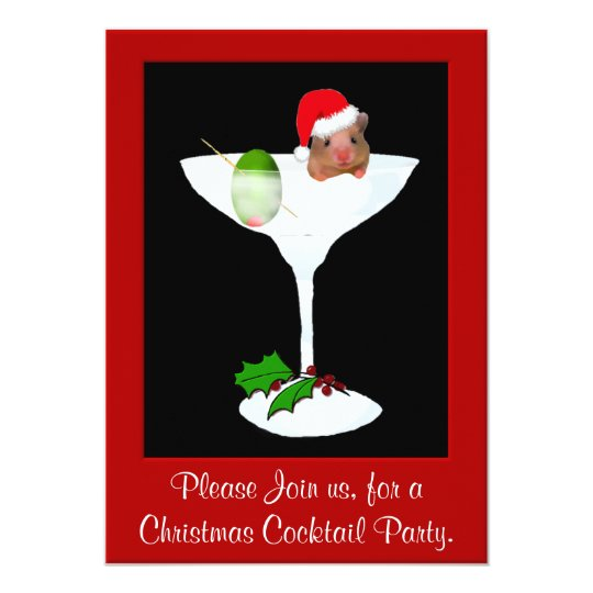 Cute Hamster Christmas Party Invitation