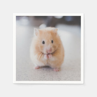 Cute hamster disposable serviette