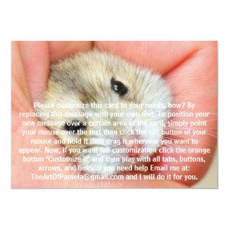 Cute Hamster Face 1 5x7 Paper Invitation Card