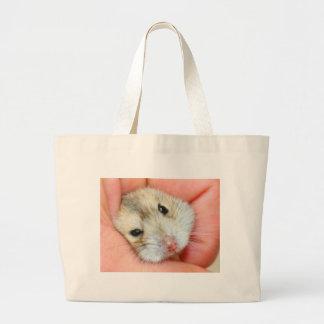 Cute Hamster Face 1 Large Tote Bag