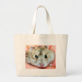 Cute Hamster Face 2 Large Tote Bag