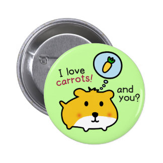 cute hamster timmy 6 cm round badge