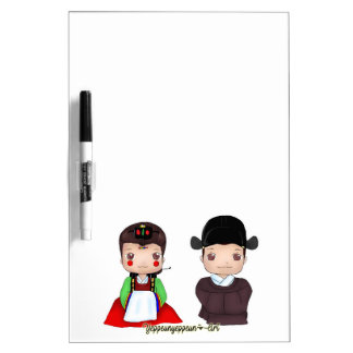 Cute Hanbok Married couple Dry Erase Whiteboard