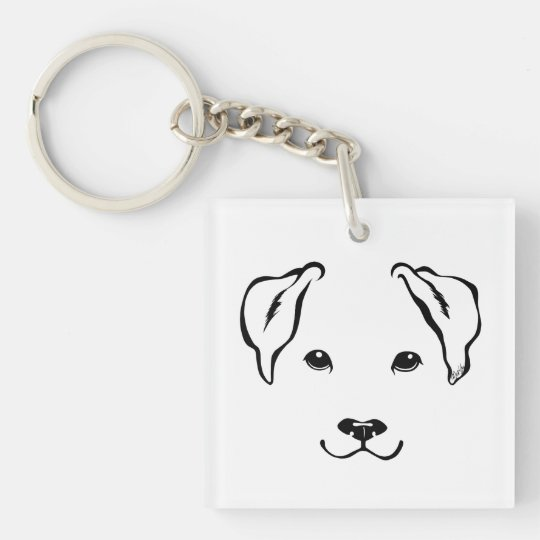 Cute Hand Drawn 5 Lines Dog Double Sided