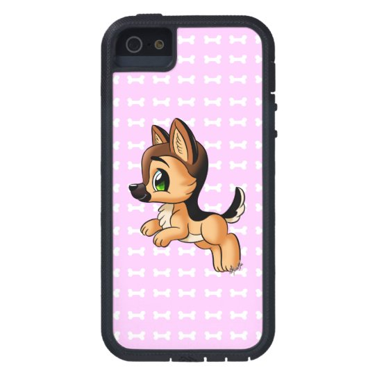 Cute Hand Drawn Dog iPhone 5 Tough Case