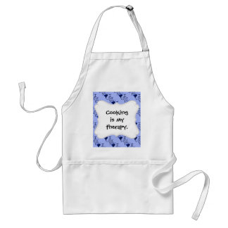 Cute Hand Drawn I Love You Heart Blue Pattern Standard Apron