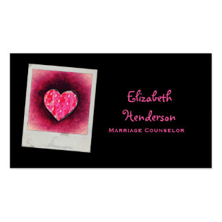 Cute Hand Drawn Pink Heart Pack Of Standard Business Cards