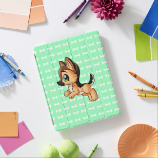 Cute Hand Drawn Puppy iPad 2/3/4 Mint Smart Cover iPad Cover