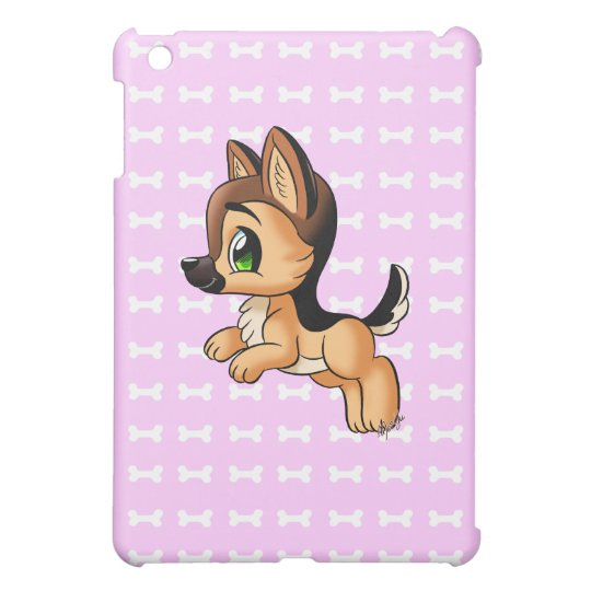 Cute Hand Drawn Puppy iPad Mini Matte Case