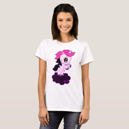 Cute Hand drawn Unicorn Ladies' T-shirt